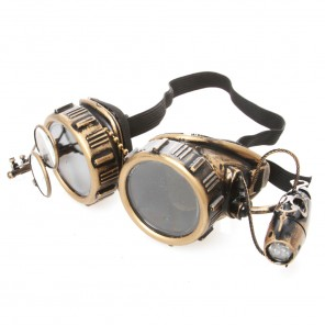 Brass Goggles With Eye Loop and Light
