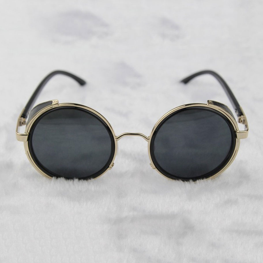 Steampunk Glasses – Gold & Gray With Side Shields ...