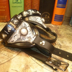 Vintage Lace & Pearl Goggles