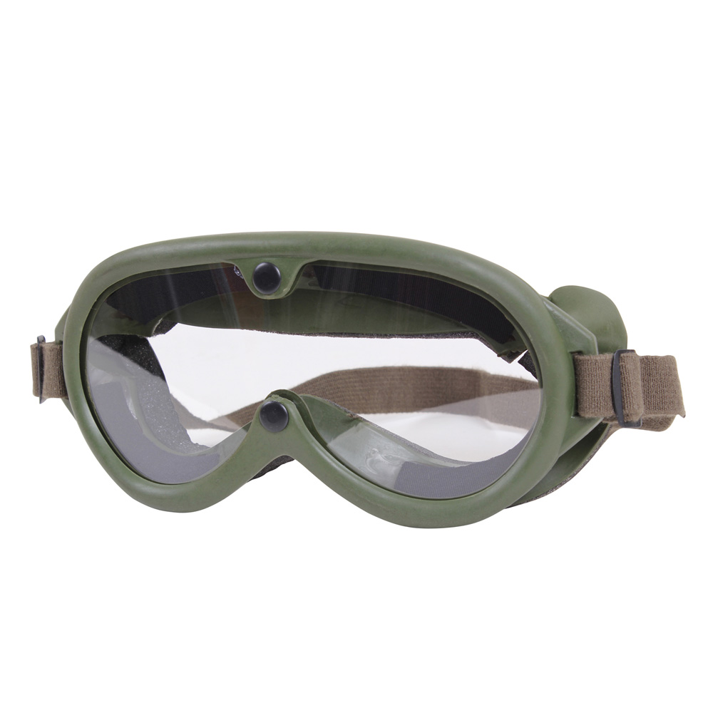 aba0557275e8 World War I Aviator Goggles w  Flat Clear Lenses