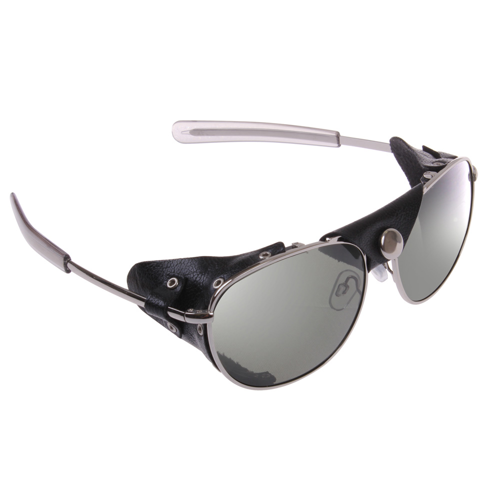 9e0aa05e8cb Tactical Aviator Sunglasses With Black Leather Wind Guards