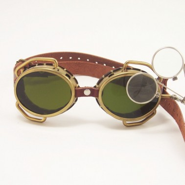 Brass Steampunk Goggles Sunglasses LARP Victorian Cosplay