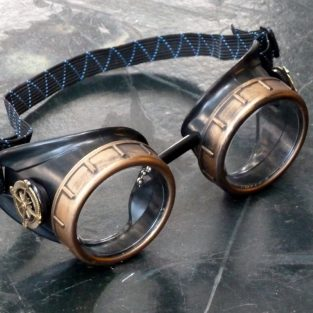 Classic Black and Bronze Compass Goggles