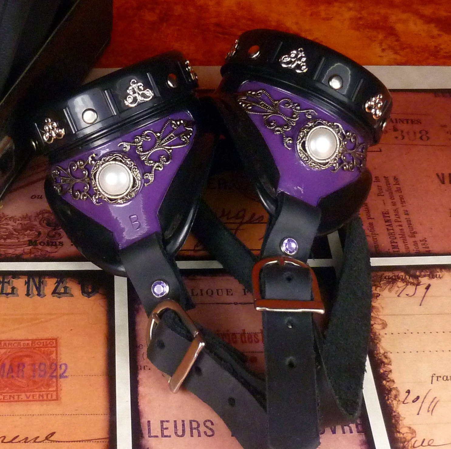 Purple Steampunk Goggles Vintage Royalty