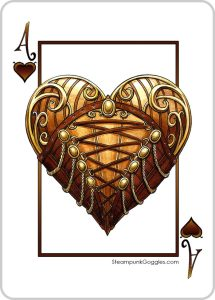 The Ace of Hearts, original artwork by Mike Lees