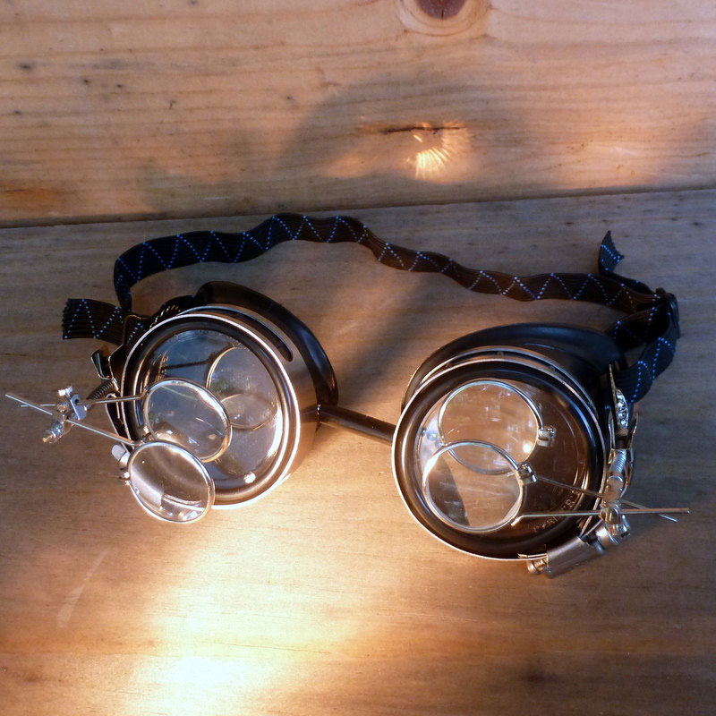 Anthropologist Goggles With Two Double Eye Loupes
