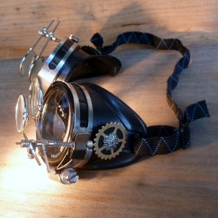 Anthropologist Goggles - Two double magnifiers, clear lenses
