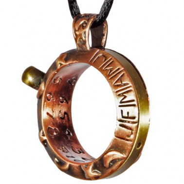 Copper Sundial Necklace - Aquitaine Celestial - Back