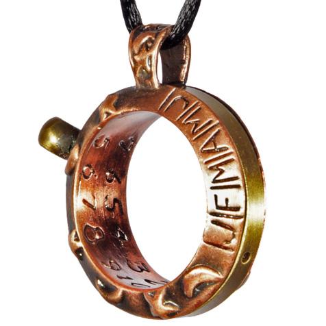 Aquitaine Celestial Sundial Necklace In Copper