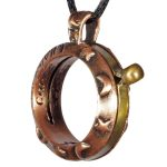 Copper Sundial Necklace - Aquitaine Celestial