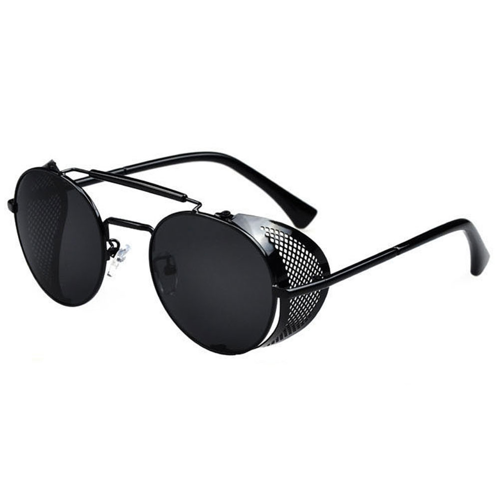 Prescription Sunglasses With Side  oval sunglasses fold in side shields smoke gray lenses