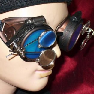Radioactive Blue Lens Goggles