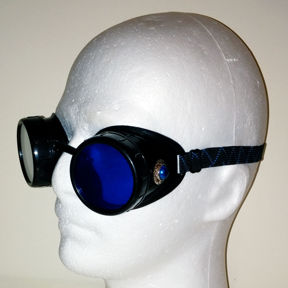 Blue Steampunk Goggles