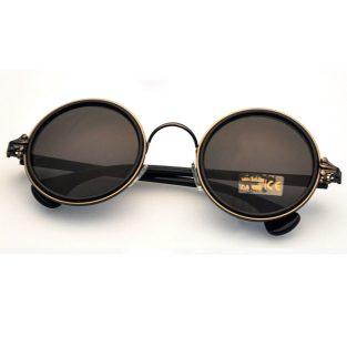 Bronze Sunglasses: Crow's Feet End & Dark Lenses