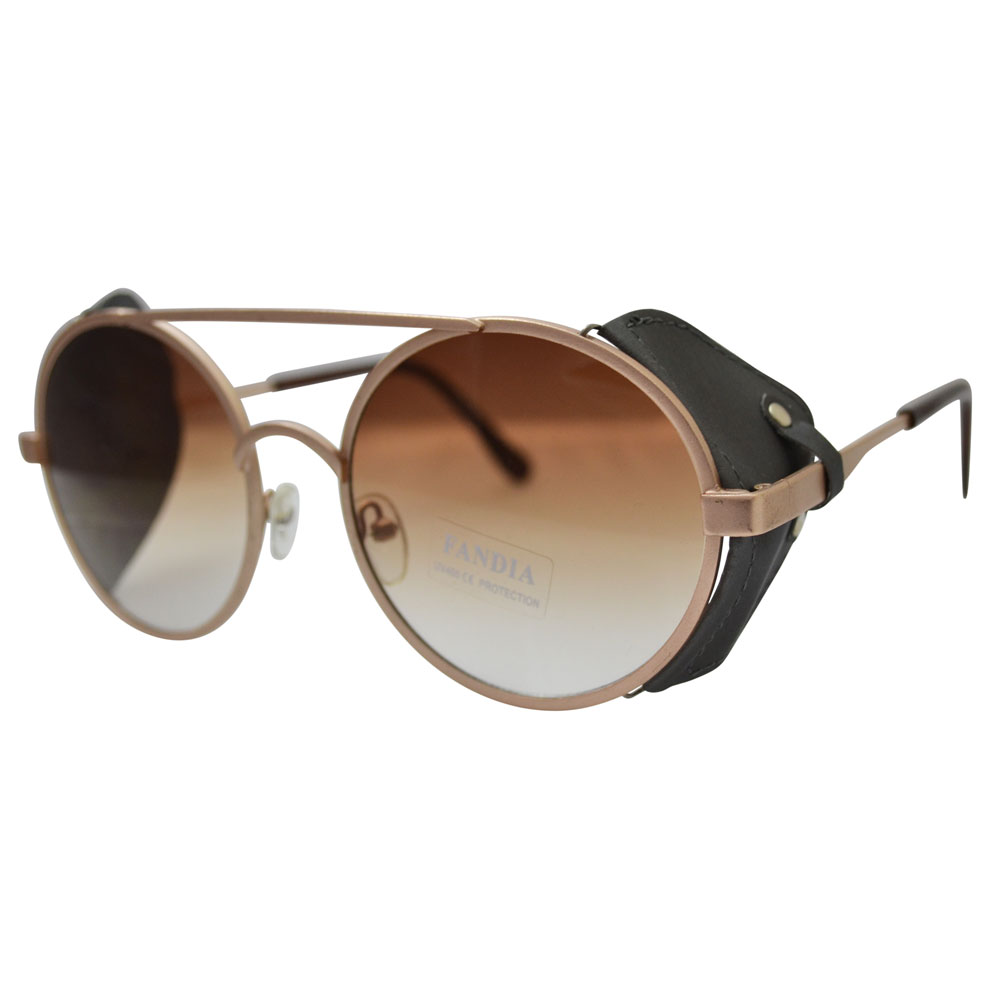 Leather Sunglasses Side Shield  grant sunglasses with gold frames fabric windguard