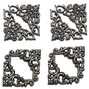 metal filigree stickers