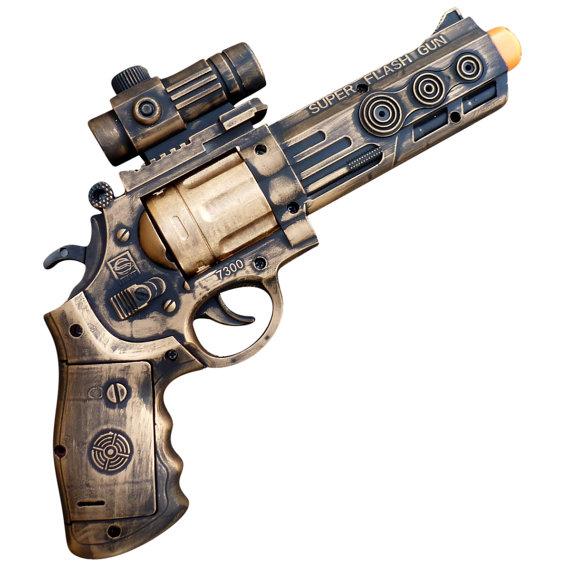 Super Flash Gun Steampunk Toy Gun
