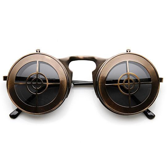 e1b16e0a68 Round Flip-Up Target Sunglasses in Bronze