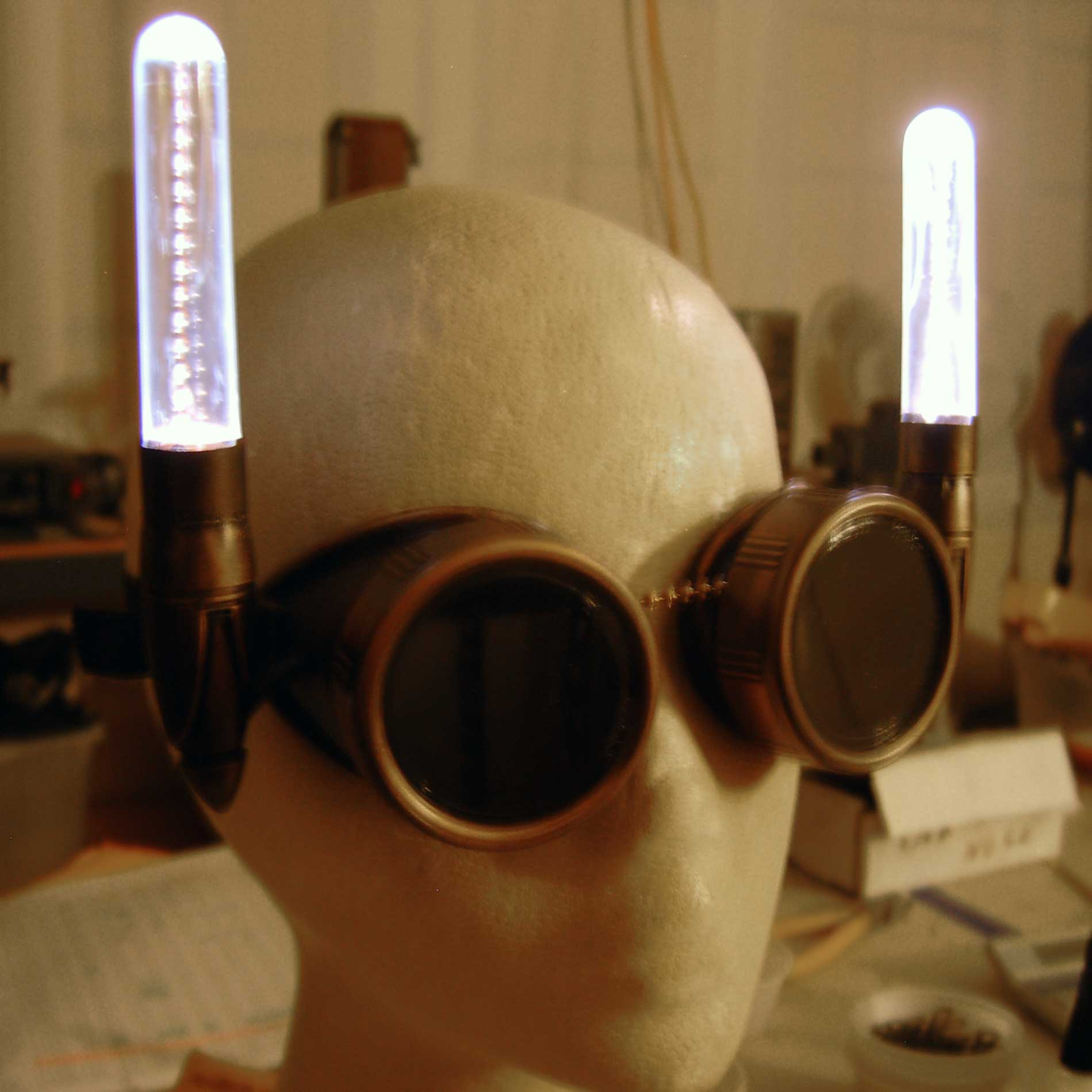 Gaslight Dieselpunk Goggles With Dual Lights