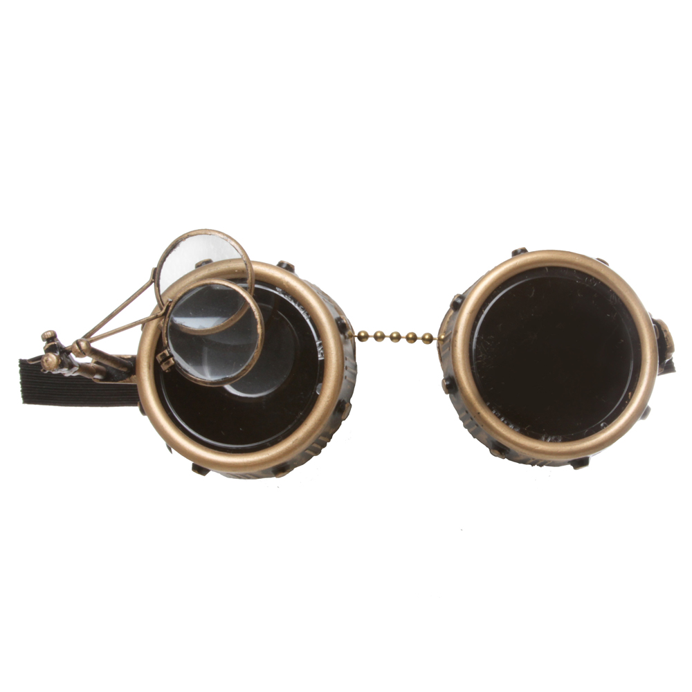 Illustrious Inventor Steampunk Goggles With Eye Loupe