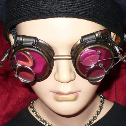 Gold Framed Steampunk Goggles