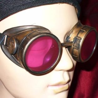 Gold Victorian Steampunk Goggles