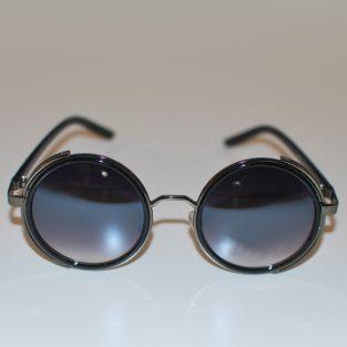 Retro Sunglasses - Side Protectors - Gunmetal Gray