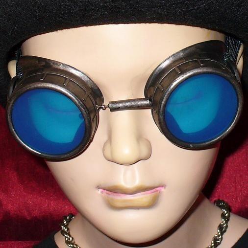 Metallic Toned Goggles: Blue Lenses
