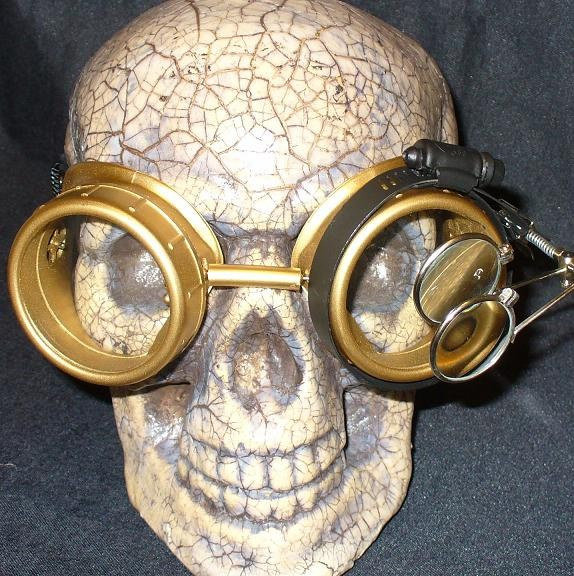 Gold Goggles: Clear Lenses w/ Eye Loupe