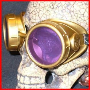 Gold Apocalypse Goggles: Purple Lenses