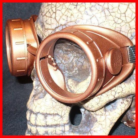 Copper Apocalypse Goggles: Clear Lenses