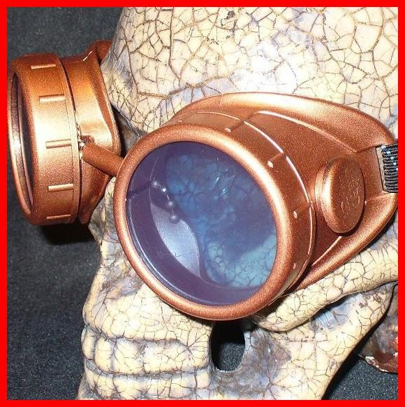 Copper Apocalypse Goggles: Blue Lenses