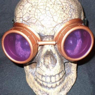 Copper Apocalypse Goggles: Purple Lenses