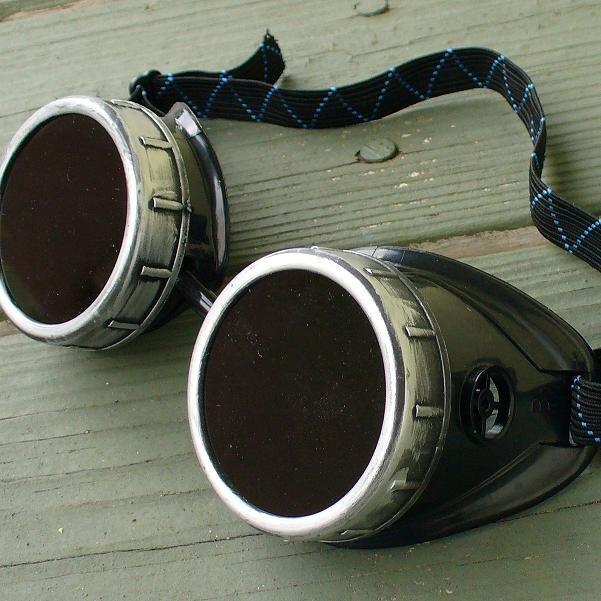 Black & Silver Goggles: Dark Lenses