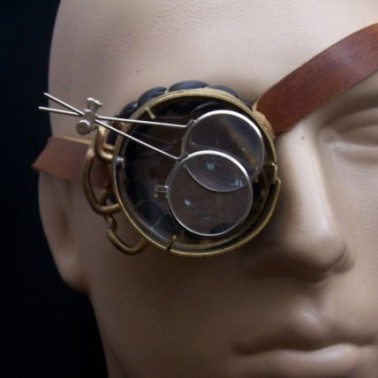 Brass Monocle Neo Victorian Jules Verne Goggles