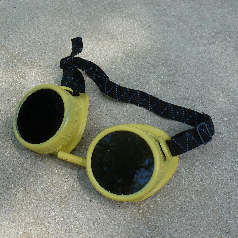 Yellow Apocalypse Goggles w/ Black Lenses