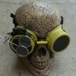 Yellow Apocalypse Goggles w/ Black Lenses & Eye Loupe