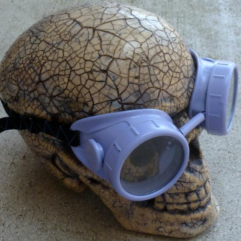 Blue Apocalypse Goggles w/ Clear Lenses