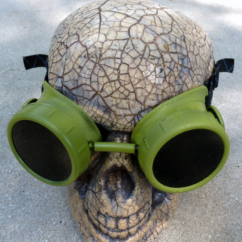 Green Apocalypse Goggles w/ Black Lenses