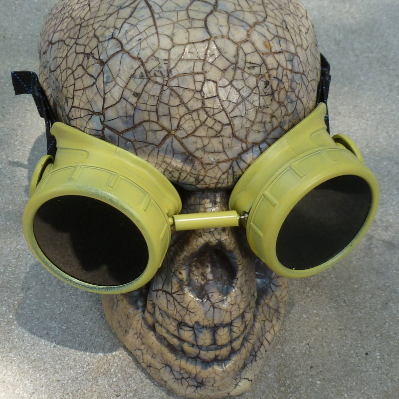 Yellow Apocalypse Goggles w/ Black Lenses