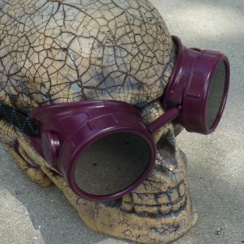 Purple Apocalypse Goggles w/ Dark Lenses