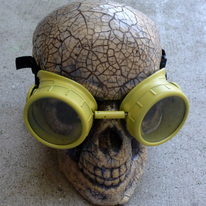 Yellow Apocalypse Goggles w/ Clear Lenses