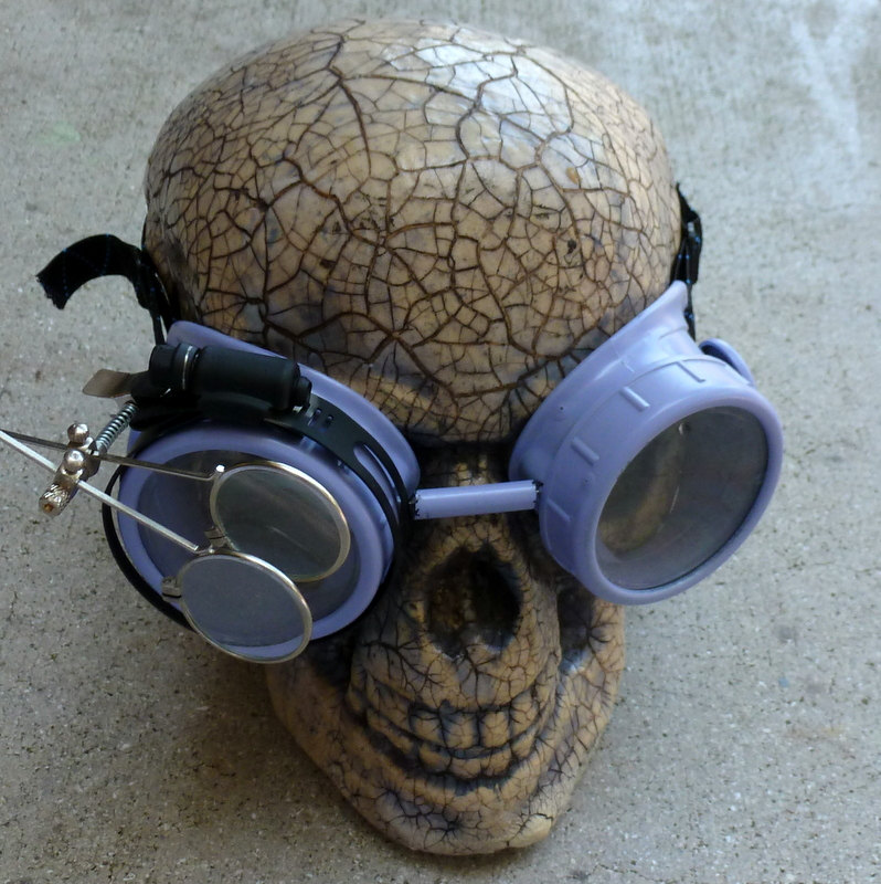 Blue Apocalypse Goggles w/ Clear Lenses & Eye Loupe