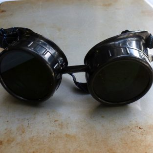 Black Goggles: Black Lenses w/ Black Turquoise Side Pieces