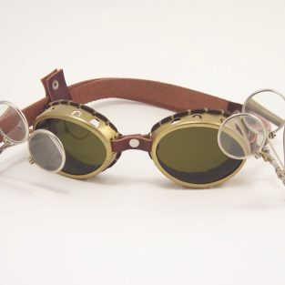 Brass Steampunk Goggles Mad Scientist Cosplay LARP