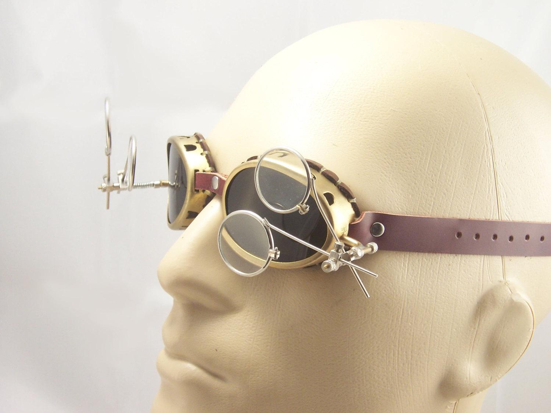 Brass Steampunk Goggles Mad Scientist Cosplay LARP