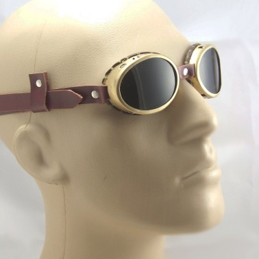 Brass Goggles Sunglasses LARP Victorian Cosplay