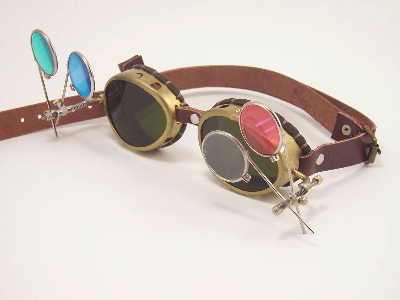 Brass Steampunk Goggles LARP Victorian Cosplay