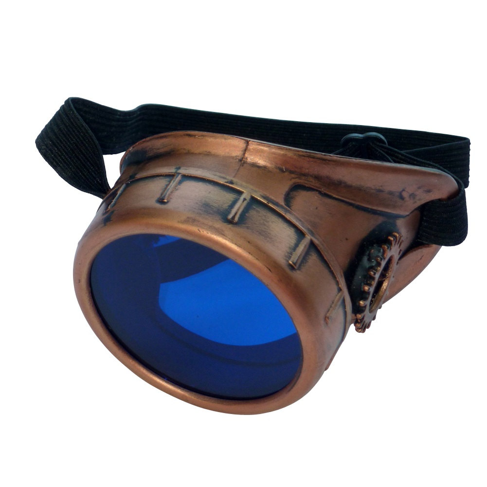 Copper Toned Monocle : Blue Lenses