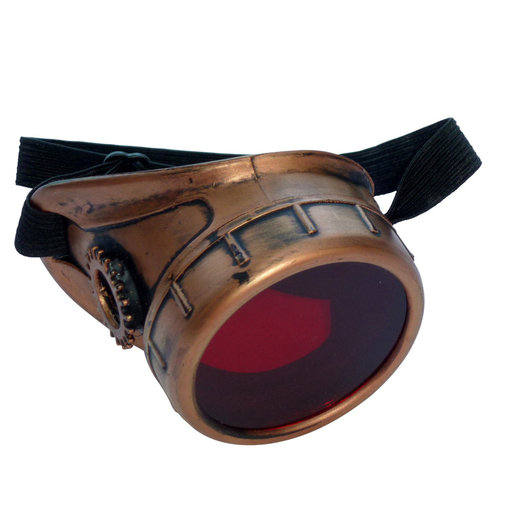Copper Toned Monocle : Red Lenses